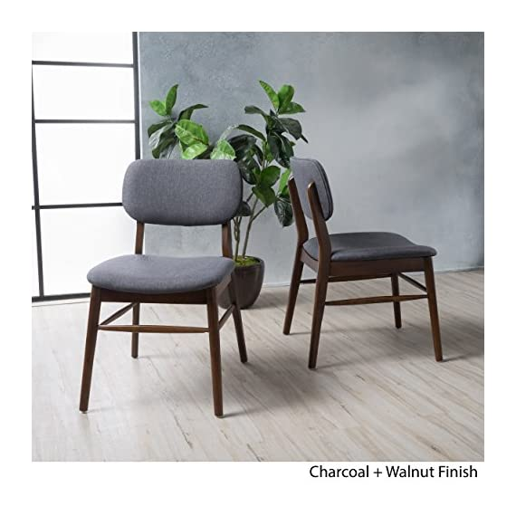 Christopher Knight Home Colette Fabric Dining Chairs, 2-Pcs Set, Charcoal -  - kitchen-dining-room-furniture, kitchen-dining-room, kitchen-dining-room-chairs - 518l4P3TNKL. SS570  -