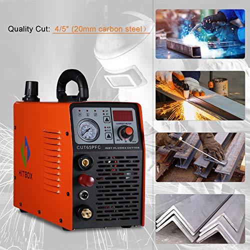 Cortador de plasma 50A Dual Voltage Electric PFC DC Inverter Aire Máquina de corte por plasma CUT40 50 Cortador de metal 1/2 ″ Corte limpio: Amazon.es: ...