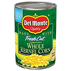 Del Monte Canned Fresh Cut Whole Golden Sweet Kernel Corn, 15.25 Ounce (Pack of 12)