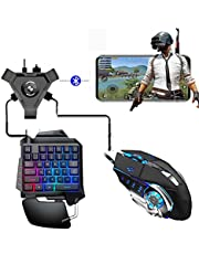 Keyboard Mouse Bluetooth 4.1 Converter Kit,Mobile Gamepad Android PUBG Controller Keyboard Mouse Gaming Converter for iOS Ipad to PC