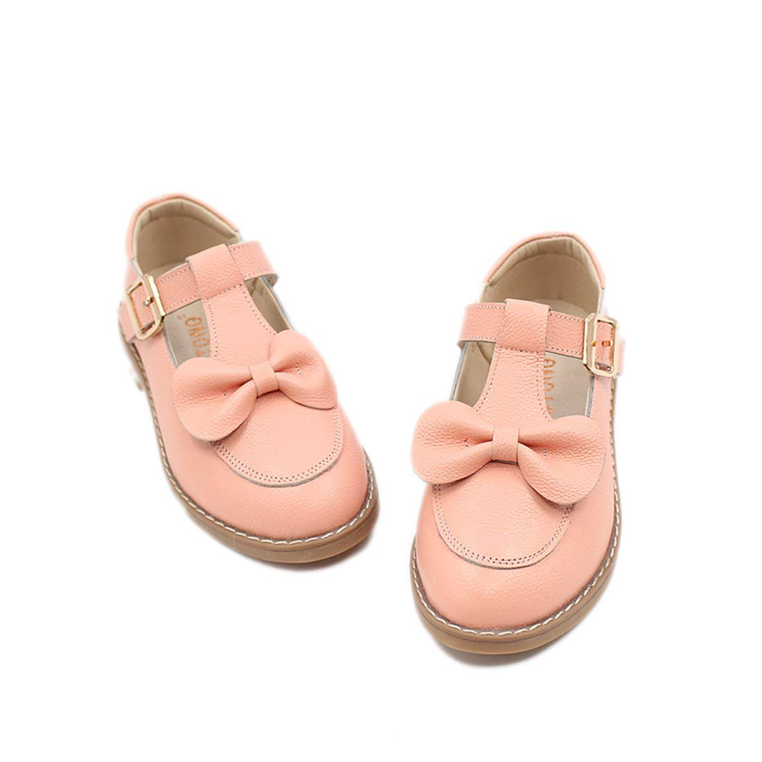YIBLBOX Toddler Girls Mary Jane School Uniform Shoes with Bow