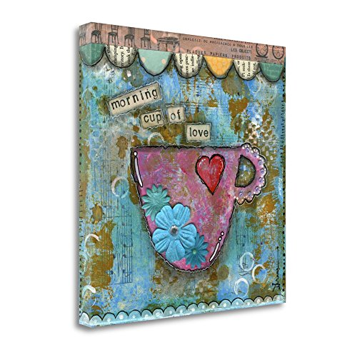 """'Morning Cup of Love' Graphic Art Print on Canvas Size: 18"""" H x 18"""" W SBBD1026-1818c"""