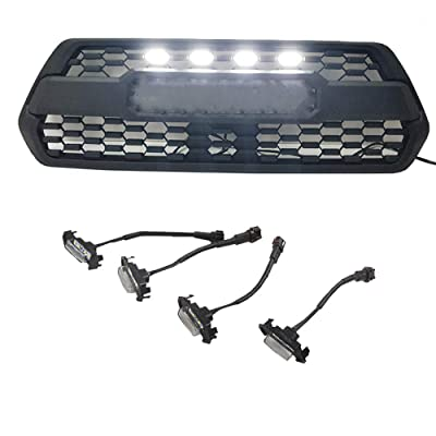 ZGAUTO Grille LED White Lights Fit for TACOMA TRD Grille 2016 2020 2020(4 Piece,White): Automotive
