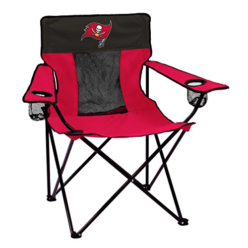 Logo Brands NFL Tampa Bay Buccaneers  Folding Elite Chair with Mesh Back and Carry Bag ,  Red,  One Size]()