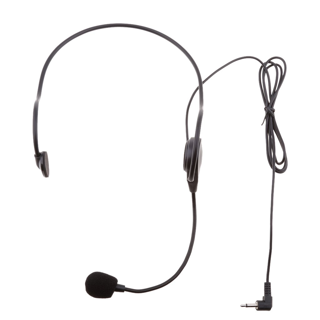 MagiDeal Black Head-mounted Undirectional Boom Head Worn Hook Condenser Microphone 3.5mm Mono, 3Pin XLR, 4Pin XLR Connector - 3.5mm Right Angle 0755026170080USA