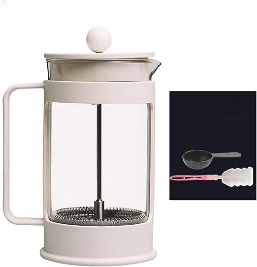 BESTSOON Filtro Prensa Francés para Preparar Café Prensa Francesa Crisol de Cristal del té del café