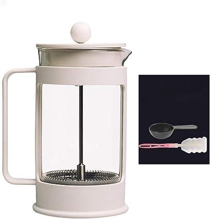 Cafetera y Tetera Prensa Francesa Crisol de Cristal del té