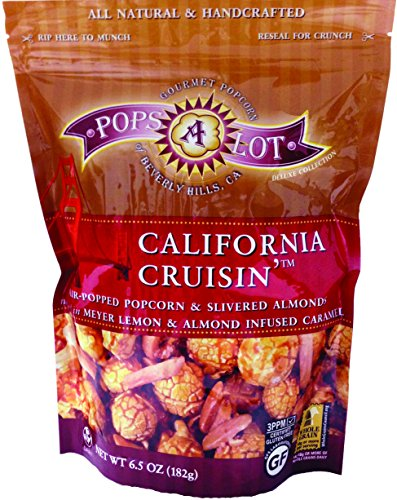 Cheddar California (Popsalot Gourmet Popcorn Deluxe Collection, California Almond Caramel Corn, 6.0 Ounce)