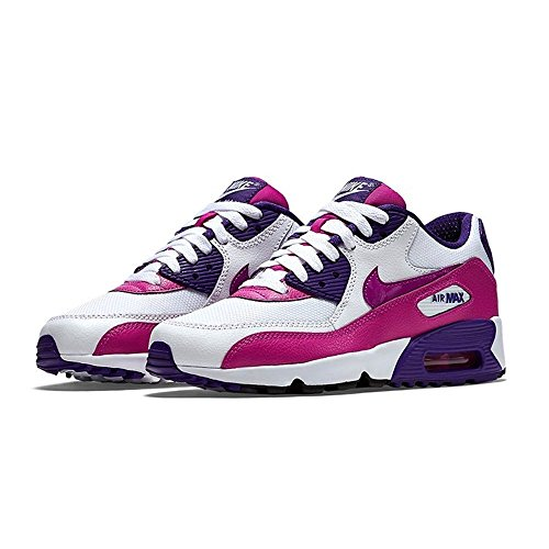 Nike Air Max 90 Mesh GS - 833340105 - Color White - Size: 5.5 by NIKE