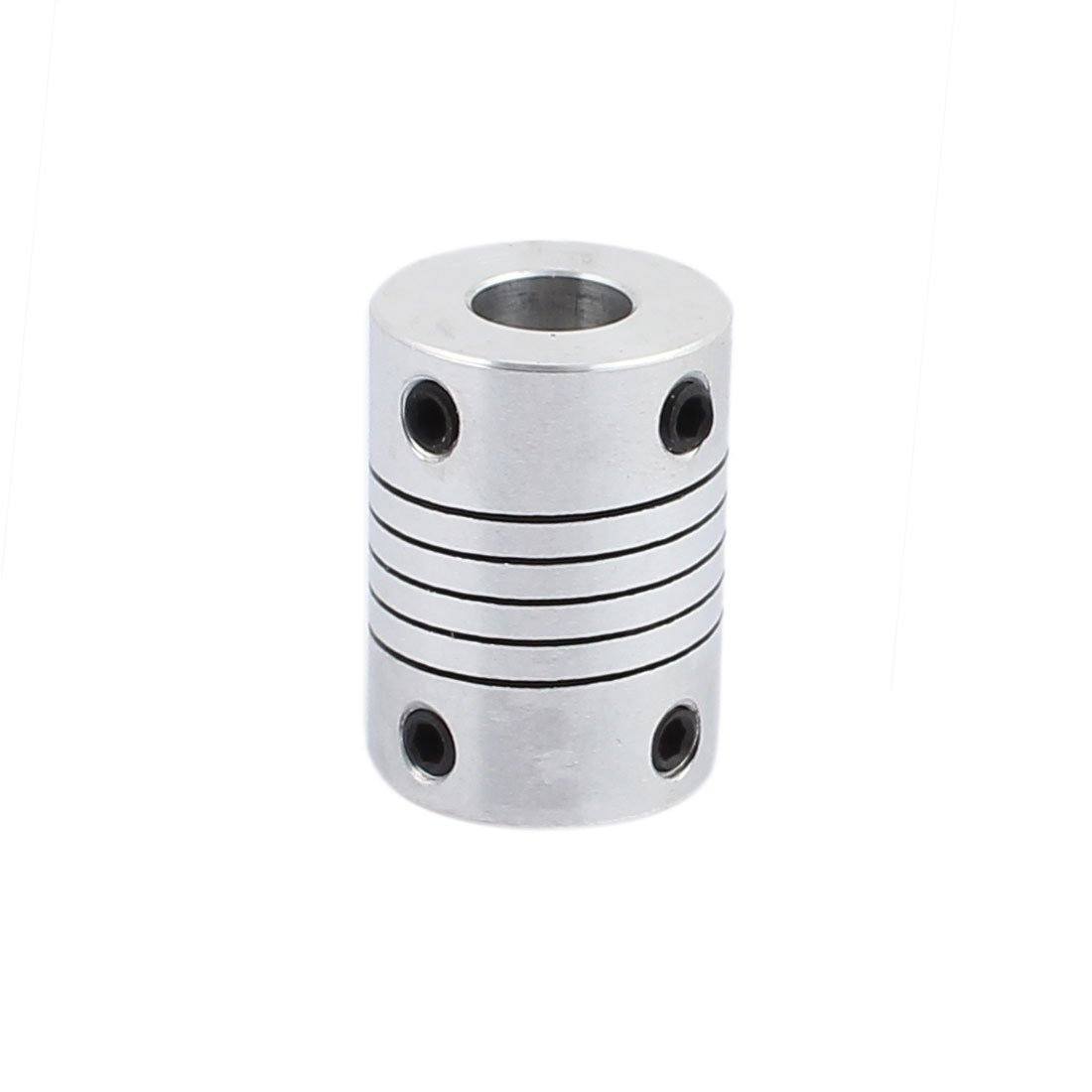 uxcell 5mm to 6.35mm Shaft Coupling 25mm Length 18mm Diameter Stepper Motor Coupler Aluminum Alloy Joint Connector for 3D Printer CNC Machine DIY Encoder SYNCE016622