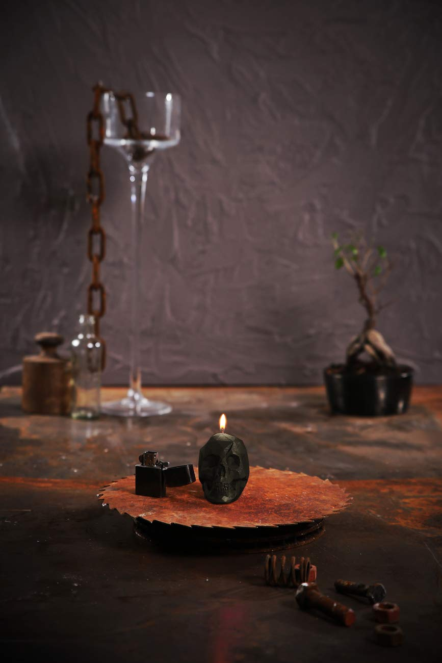 Candellana Candles- Small Skull Candle (Black)