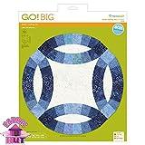 GO! Big 12 1/2'' Double Wedding Ring Fabric Cutting Die