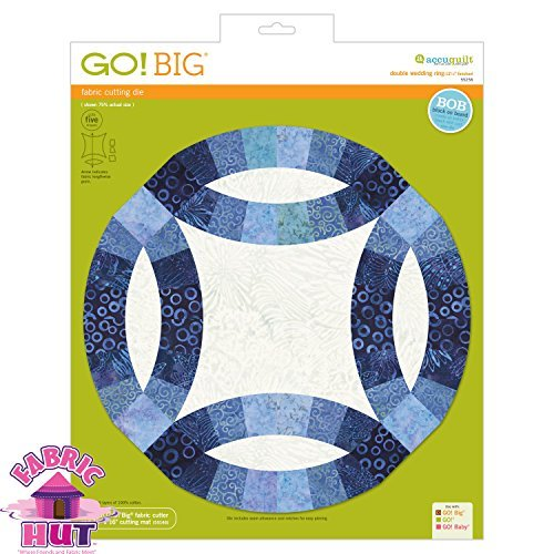 GO! Big 12 1/2'' Double Wedding Ring Fabric Cutting Die by Fabric Hut