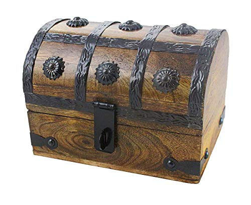 Well Pack Box Treasure Chest Wood 6.5x4.5x5 Keepsake Jewelry Box Toy Treasure Box Medium