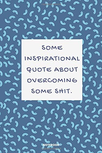 NOTEBOOK SOME INSPIRATIONAL QUOTE ABOUT OVERCOMING SOME SHIT  DEMOTIVATIONAL DISCOURAGING WITH SARCASTIC ANTI SOCIAL QUOTE 6x9