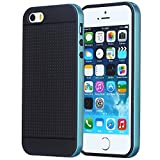 Acode (TM) Apple iPhone SE 5 5S Case Bumper Full Matte Soft Touch Flexible TPU Protective Slim Case for iPhone SE 5 5S (Blue)