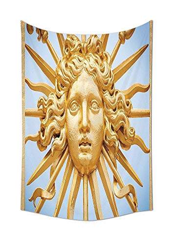 JAKE SAWYERS Trippy Tapestry Chateau De Versailles Golden Gate Sky Monuments French Style Decor Digital Printed Tapestry Wall Hanging for House Decorations Living Room Bedroom Dorm Decor Gold Blue