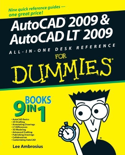 AutoCAD 2009 and AutoCAD LT 2009 All-in-One Desk Reference For Dummies 2nd edition by Ambrosius, Lee (2008) Paperback