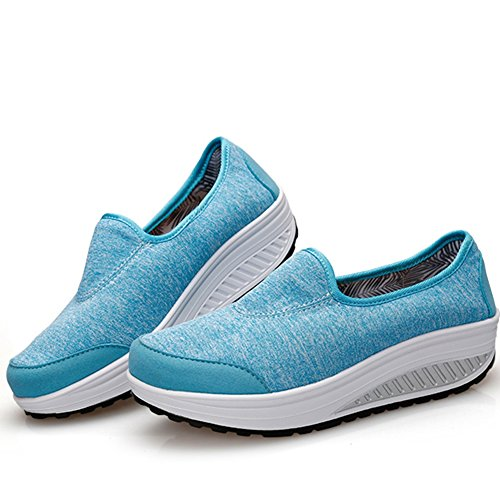 Womens Fashion Sneakers Slip On Soft Comfortable Dress Shoes By Btrada Blue R78dXaRCQt