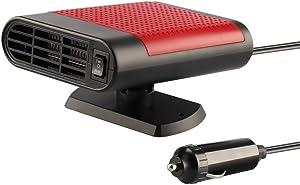 Portable Car Heater, Premium Quality Fast Heating Defrost Defogger Windscreen Demister 2 in1 Vehicle Heat Cooling Fan Auto Ceramic Heater Plug in Cigarette Lighter 12V 150W