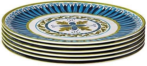 Certified International Corp Blue Grotto Melamine Salad Plate (Set of 6), 9