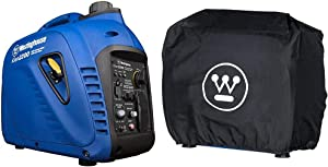 Westinghouse iGen2200 Portable Inverter Generator 1800 Rated & 2200 Peak Watts, Gas Powered, CARB Compliant & Inverter Generator Cover - Weather Resistant - Fits iGen2200, iGen2500, iPro2500