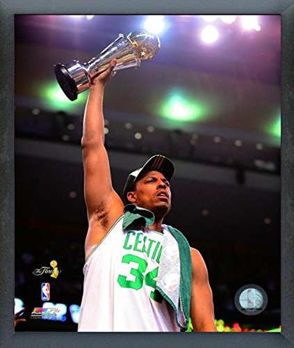 "Paul Pierce Boston Celtics NBA Finals Trophy Photo (Size: 12"" x 15"") Framed"