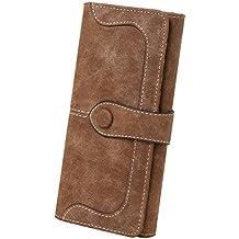 Women's Vegan Leather 17 Card Slots Card Holder Long Big Bifold Wallet