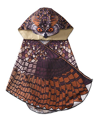 IMAGINING Me Great Horned Owl Hooded Dress Up Costume Wings - 15.75 L x 15.75 W x 9.84 -