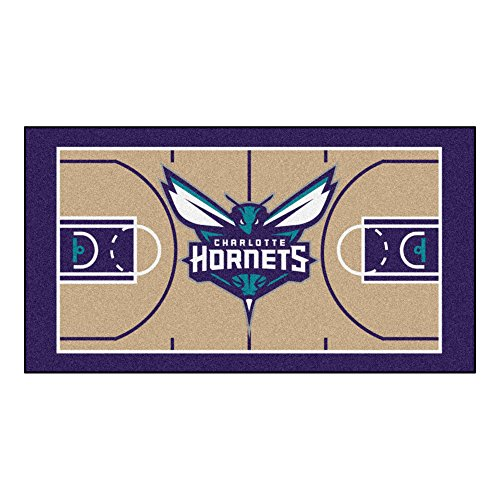 Charlotte Basketball Rug - FANMATS NBA Charlotte Hornets Nylon Face NBA Court Runner-Small
