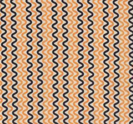 Moda The Boo Crew by Sweetwater 5512 21 Orange/Black Zig Zag Stripe Cotton Fab supply:lauraotr