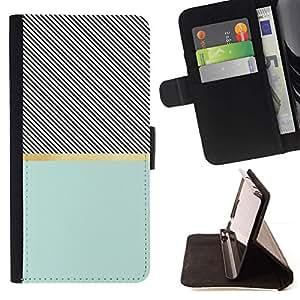 For Apple (5.5 inches!!!) iPhone 6+ Plus / 6S+ Plus Case , Ilusión Patrón Cruz trullo Negro- la tarjeta de Crédito Slots PU Funda de cuero Monedero caso cubierta de piel