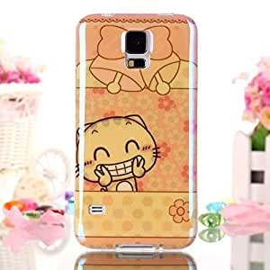 Elfe Boutique Samsung Galaxy S5 I9600 Cases, Super Sparkly Blue-ray Surface IMD Color Print Lovely Cat Ultra-thin Soft TPU Case for Samsung Galaxy S5 I9600 + Screen Protector + Earphone Anti Dust Plug Cap