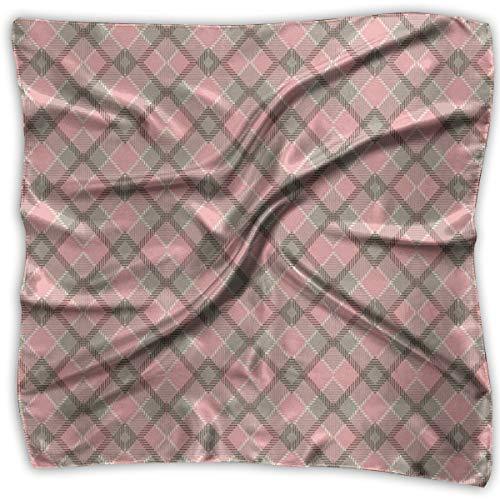 Bandana Head and Neck Tie Neckerchief,Old Checkered Tartan Pattern Scottish Royal Folk Culture Stripes Ethnic Image,Headband