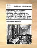 Mahometism Fully Explained, Muhammad Rabadan, 1171448023