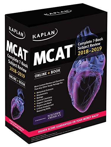 MCAT Complete 7-Book Subject Review 2018-2019: Online + Book (Kaplan Test Prep) PDF