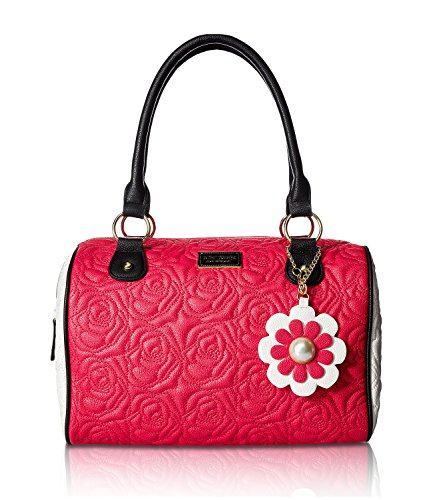 Betsey Johnson Pink Flower (Betsey Johnson Women's Satchel Fuchsia Handbag)