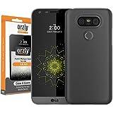 Orzly® - FlexiSlim Case für LG G5 SmartPhone / Handy (2016 Modell) - Super Slim (0,35 mm) Schutz-Abdeckung - Halbtransparent SCHWARZ