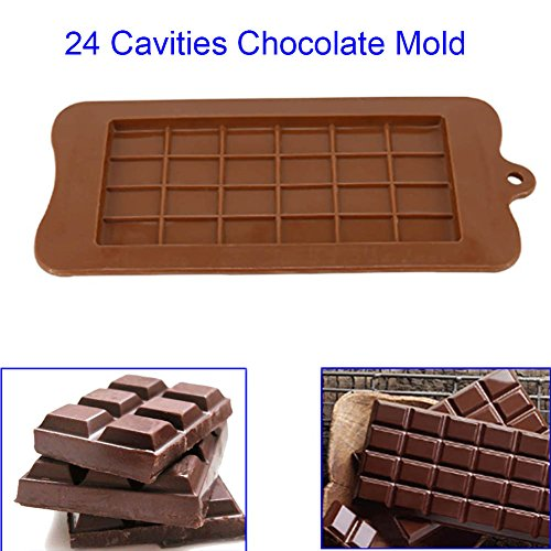 Tulas 24 Cavity Silicone Chocolate Mold Candy Maker Sugar Mould Bar Block Ice Tray Cake Bakeware Kitchen Baking Tool