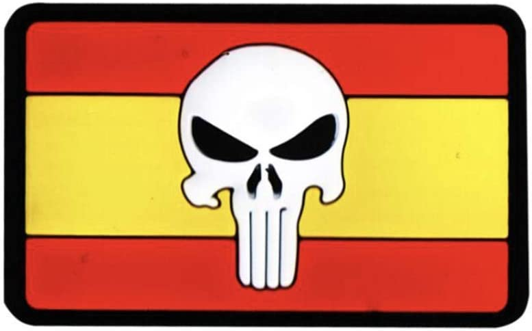 Parche de la Bandera de España de Punisher Airsoft Paintball PVC Moral Team Patch: Amazon.es: Deportes y aire libre