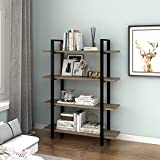 WLIVE 4-Tier Bookcase Shelves in Rustic Industrial Style, Free Standing Storage Shelf Units (4-Tier For Sale