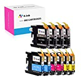 K-Ink Compatible Ink Cartridge Replacement for Brother LC103 LC 103XL 101XL LC101 (10 Pack)