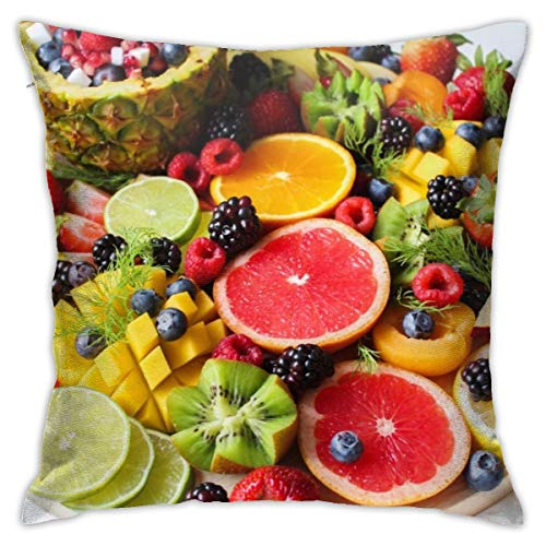 Suture Removal Tray 1 Case - Osvbs Liced Fruits On Tray Pillowcase Personalized Double Sided 18 × 18 Inch for Sofa Bed (only Pillowcase, No Pillow)