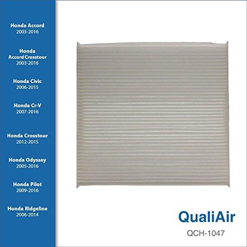QualiAir QCH-1047, Cabin Air Filter for Honda (1Pack)