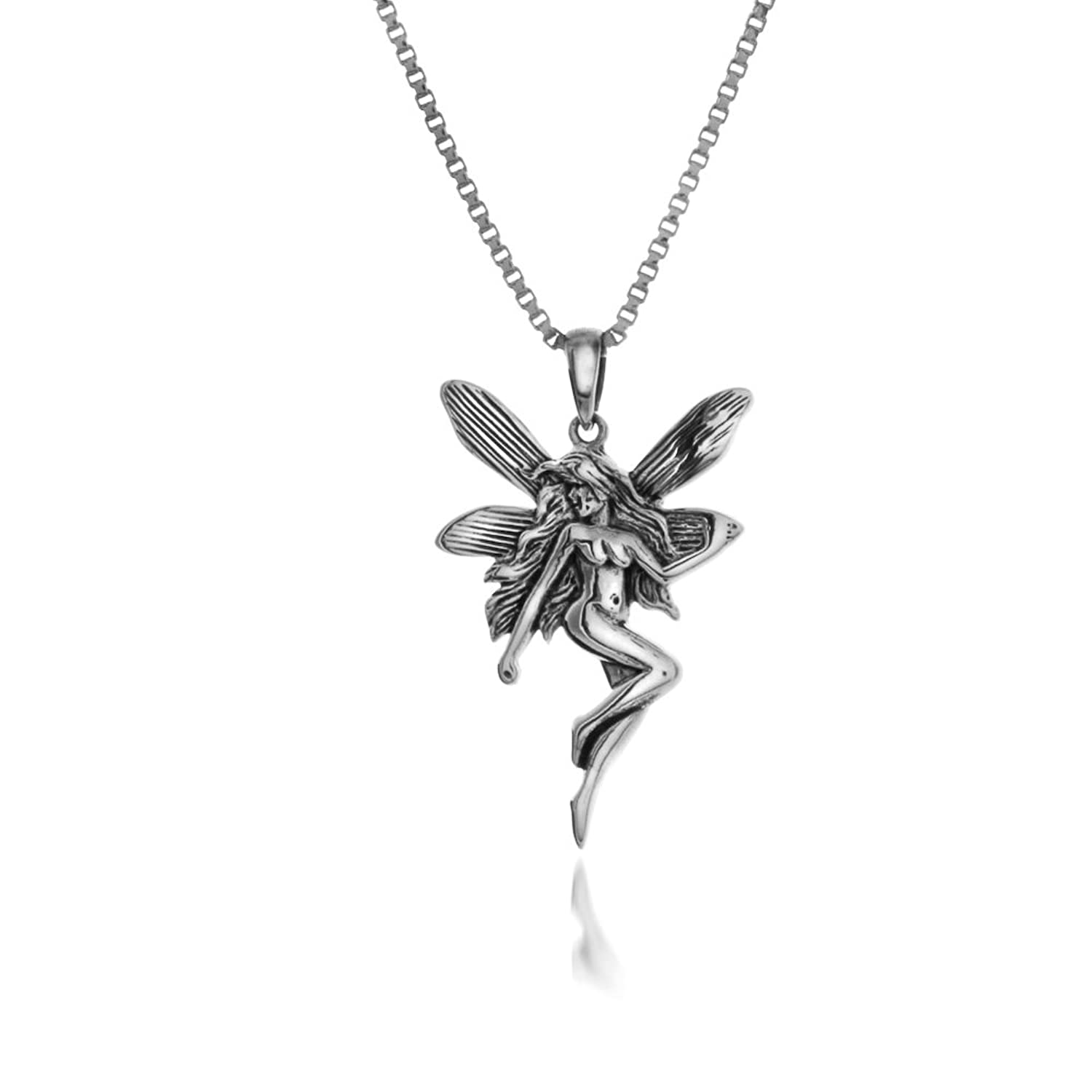 silver jewellery products je original necklace pendant fairy wings chain sterling