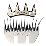 General 5 sets Sheep Clipper Blades Shearing Comb Electric Shears Replacement Comb and Cutter (13 tooth curling)