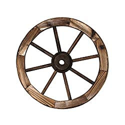 Leigh Country TX 93947 18 Wagon Wheel, 18 Inches, Walnut Finish