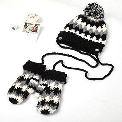 Winter Gloves Knitted Siamese Mitten