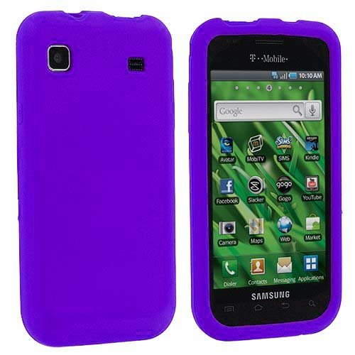 Importer520 Silicone Rubber Gel Soft Skin Case Cover for Samsung Galaxy S 4G / Vibrant T959 (Purple)