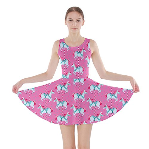Chevaux Robe Patineuse Modèle Rose Cowcow Travestissement